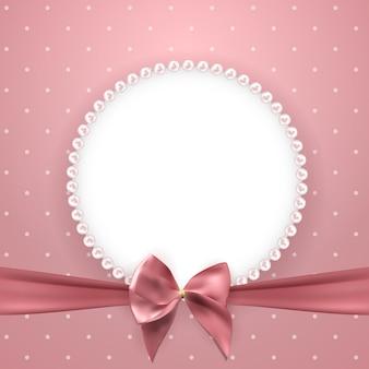Fondo hermoso abstracto con marco de perlas
