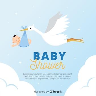 Fondo hermoso de baby shower