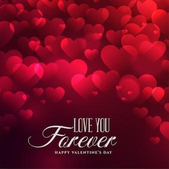 Fondo hermoso de los corazones para el día de tarjetas del día de san valentín