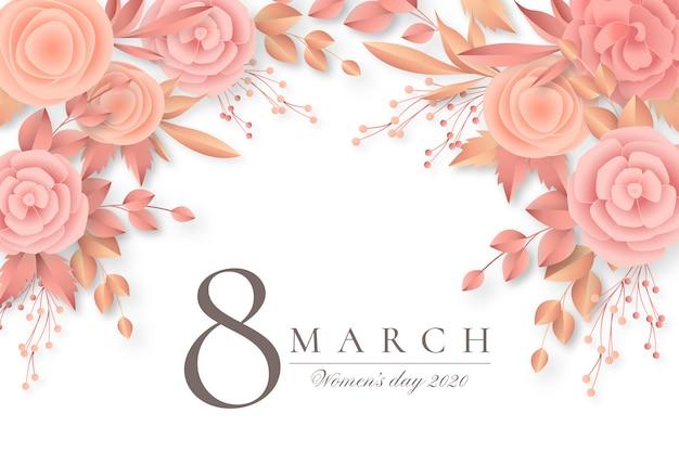 Fondo hermoso día floral de la mujer