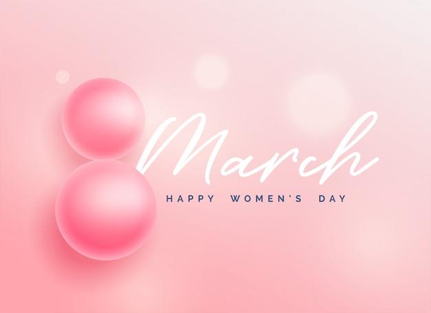 Fondo hermoso día de la mujer feliz