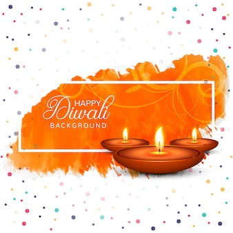 Fondo hermoso festival diwali diya lámpara de aceite feliz
