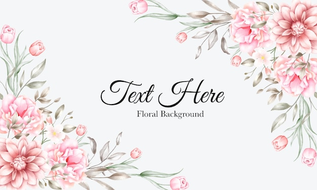 Fondo hermoso de la flor de la acuarela