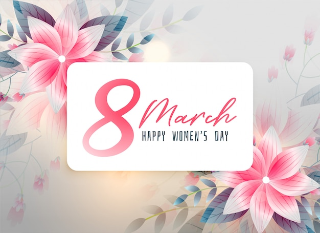 Fondo hermoso de la flor del día de las mujeres felices