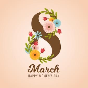 Fondo hermoso de la flor del día de las mujeres hermosas