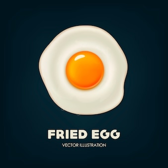 Fondo con hermoso huevo frito realista.