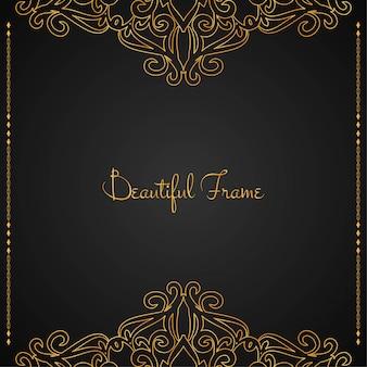 Fondo hermoso marco dorado de lujo