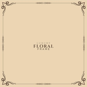 Fondo hermoso marco floral étnico