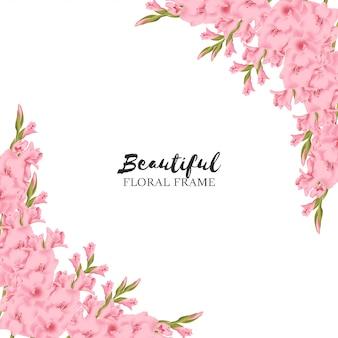 Fondo hermoso marco floral