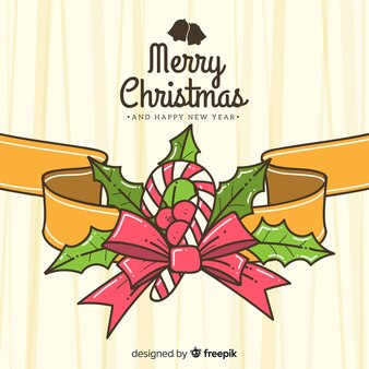 Fondo hermoso de navidad dibujado a mano