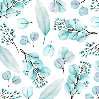 Fondo hermoso patrón floral de acuarela