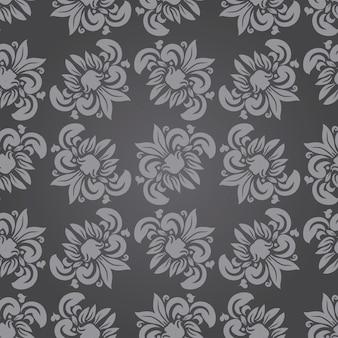 Fondo hermoso patrón floral transparente en vector