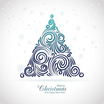 Fondo hermoso de la tarjeta del festival del árbol de navidad feliz