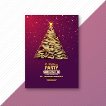 Fondo hermoso de la tarjeta de la plantilla del día de fiesta de la navidad