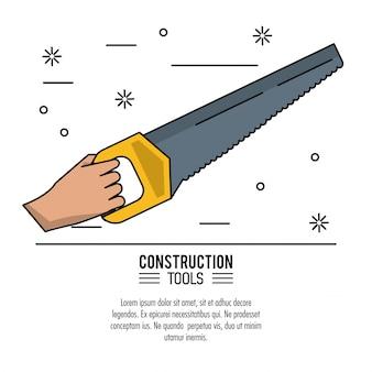 Fondo de herramientas de construcción