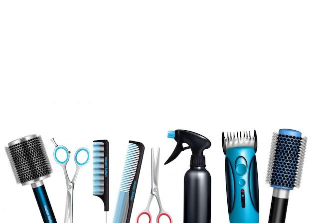 Fondo de herramientas de peluquería