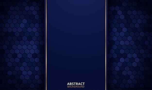 Fondo hexagonal abstracto. concepto de tecnología futurista