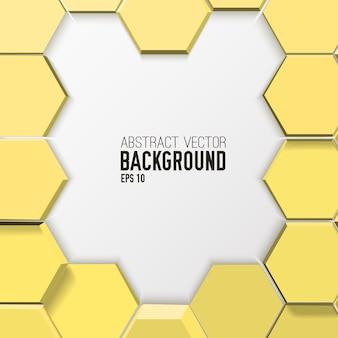 Fondo hexagonal abstracto de mosaico de luz