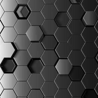 Fondo hexagonal abstracto