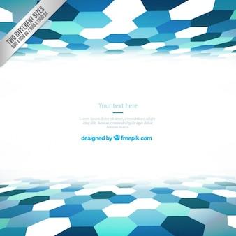 Fondo hexagonal azul