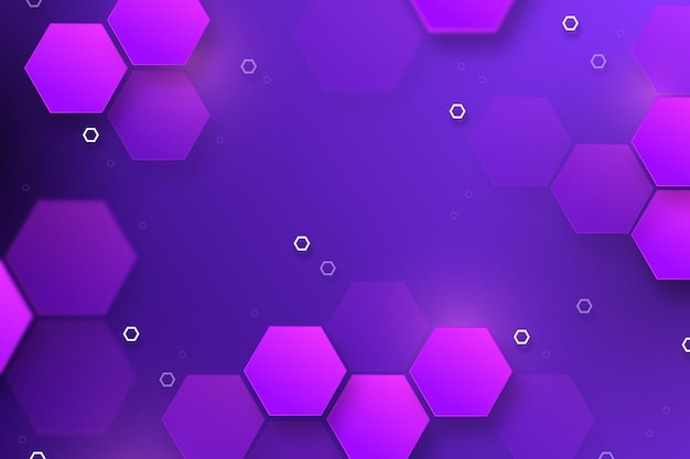 Fondo hexagonal degradado púrpura