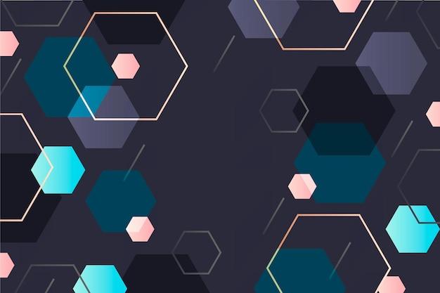 Fondo hexagonal degradado vector gratuito