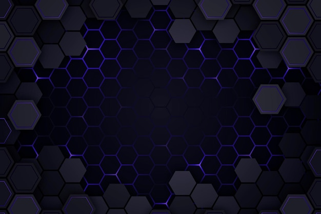 Fondo hexagonal degradado
