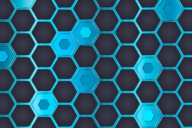 Fondo hexagonal estilo degradado