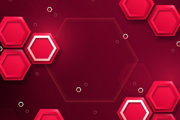 Fondo hexagonal rojo degradado