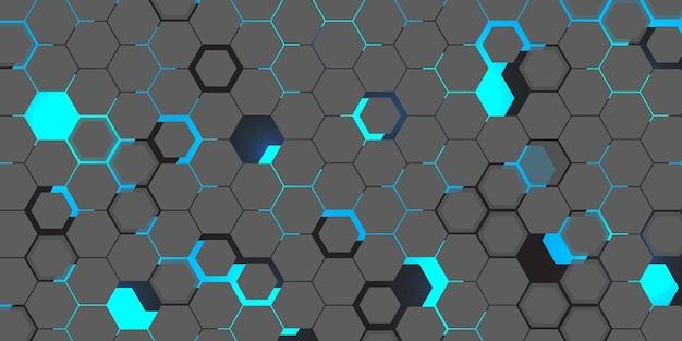 Fondo hexagonal de tecnología