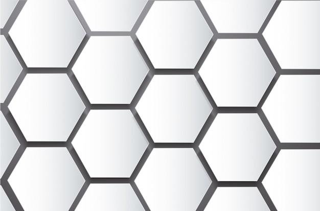 Fondo de hexágono y espacio de colmena de abeja abstracta