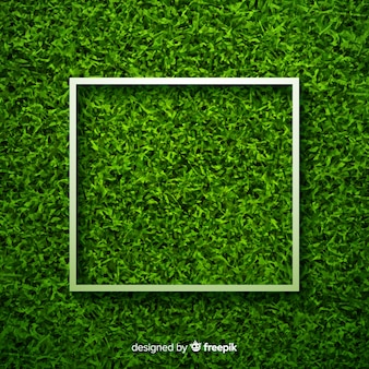 Fondo hierba verde diseño realista