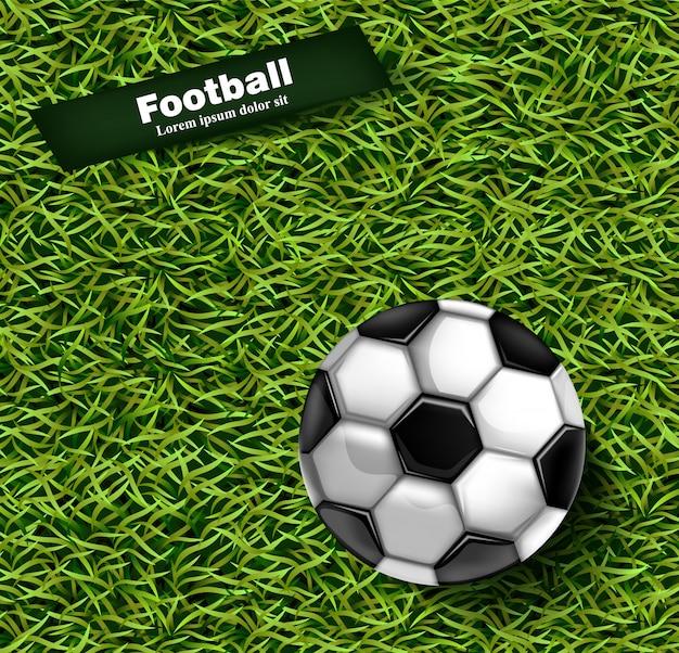 Fondo de hierba verde de fútbol