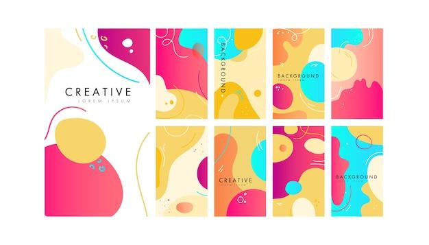 Fondo de historias creativas abstractas para redes sociales
