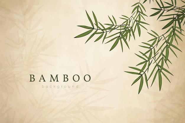 Fondo de hoja de bambú
