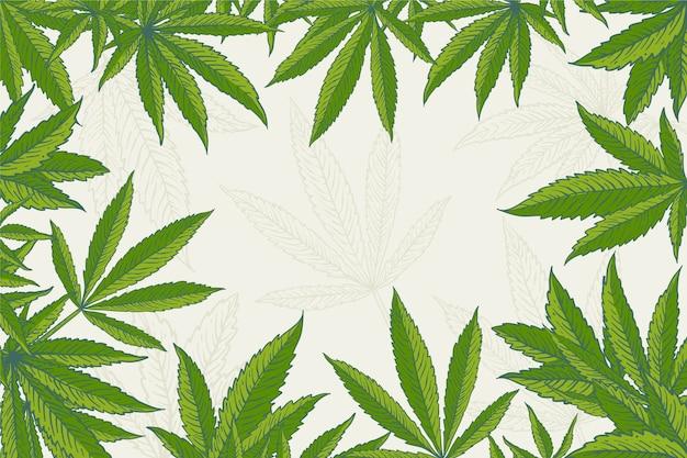 Fondo de hoja de cannabis botánico
