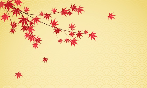 Fondo de hojas de arce japonés