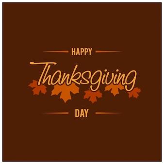 Fondo con hojas para el día de acción de gracias