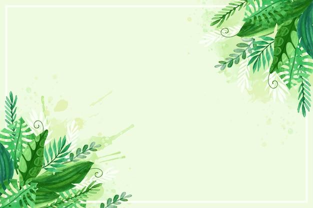 Fondo de hojas exóticas naturales