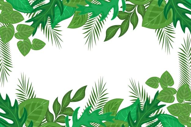 Fondo de hojas exóticas verdes