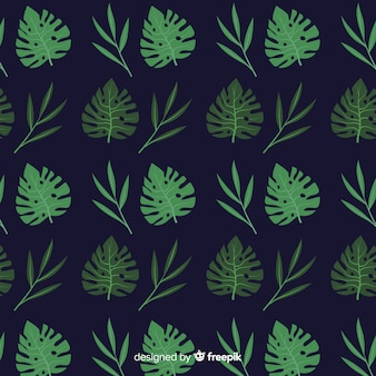 Fondo hojas monstera planas