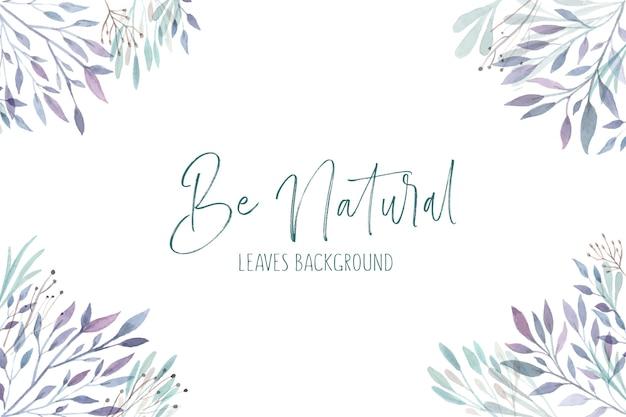 Fondo de hojas naturales