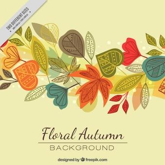 Fondo con hojas de otoño coloridas
