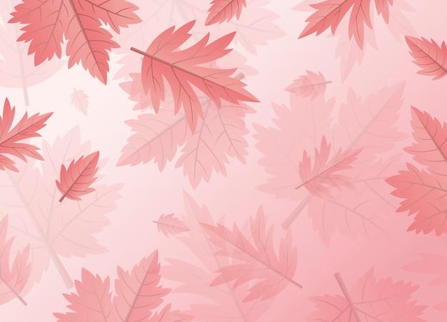 Fondo de hojas de otoño con espacio de copia