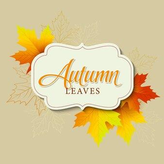 Fondo de hojas de otoño