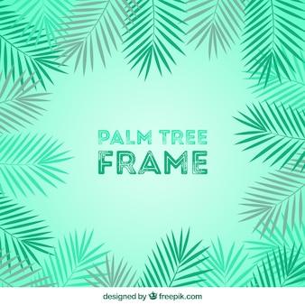 Fondo de hojas de palmeras