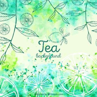 Fondo de hojas para preparar té