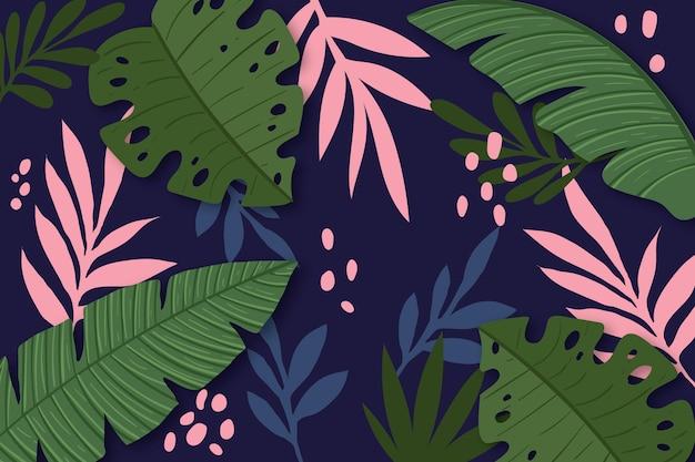 Fondo de hojas tropicales para zoom