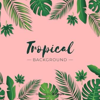Fondo hojas tropicales
