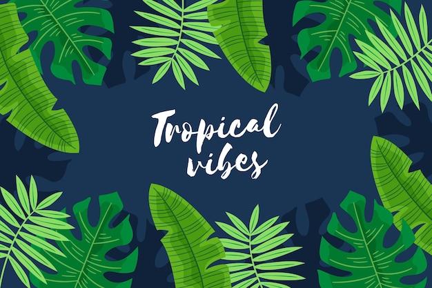 Fondo con hojas tropicales